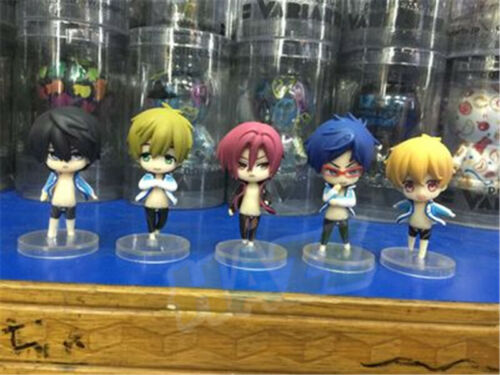 Iwatobi Swim Club Tachibana Makoto Nanase Haruka Q Ver Toys 5pcs Free