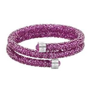 Swarovski-Women-039-s-Bangle-Bracelet-Crystaldust-Double-Wrap-Pink-Medium-5273643