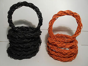 10'' HALLOWEEN WREATHS TWISTED VINE~LOT OF 12~NEW~ORANGE BLACK AUTUMN FALL CRAFT