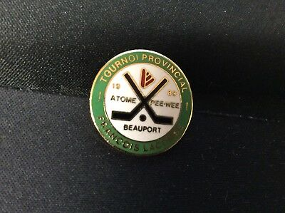 Delightful Colors And Exquisite Workmanship Famous For Selected Materials 1989 Beauport Atomic Pee Wee Tournoi Prov Francois Lacombe Commemorative Pin Novel Designs