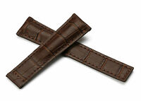 22mm Calf Leather Croco Grain Leather Deployment Watch Band Strap For TAG Heuer