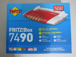 Original-AVM-FRITZ-Box-7490-WLAN-Router-VDSL-ADSL-1300-Mbps-VoIP-WiFi-Mesh-NEU