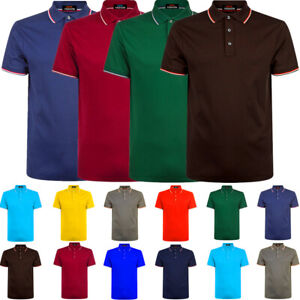 Men-039-s-Polo-Shirt-Dri-Fit-Golf-Sports-Cotton-T-Shirt-Jersey-Casual-Short-Sleeve