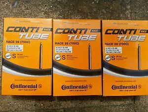 x-3-Continental-Carreras-28-Camaras-700-x-23c-Presta-80mm