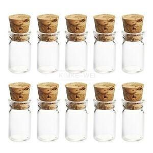 10x niedlichen mini glasflaschen mit korken wishing flasche phiolen jars 22x11mm ebay. Black Bedroom Furniture Sets. Home Design Ideas