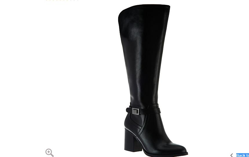 Franco Sarto Leather medium Calf Tall Shaft Boots - - - Arlette BLACK 6.M NEW 632ffd