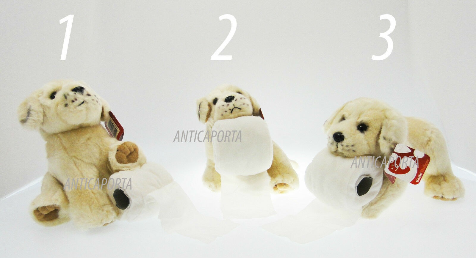 Soft toy Dog Labrador Type Paper towels with Toilet 3 adgreenising 19-23 cm