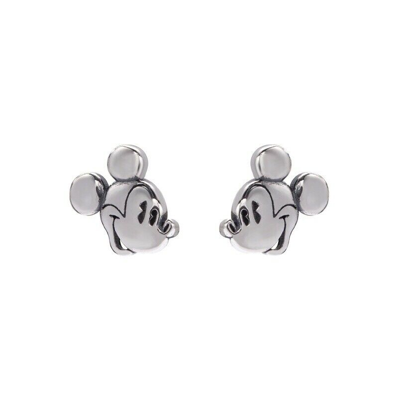 Mickey Mouse Earrings Sterling Sliver 925 Women Jewellery Love Gifts