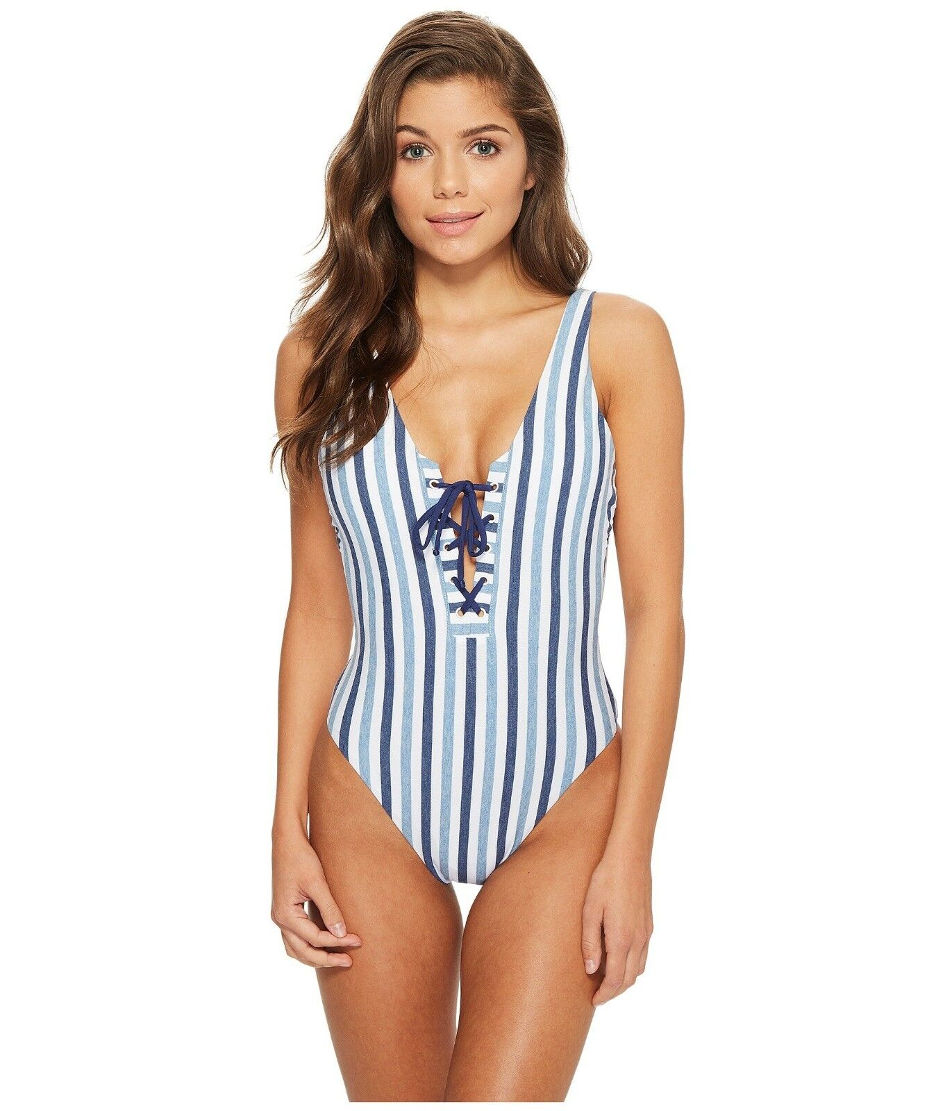 Splendid Tie-Dye Stripe One-Piece Swimsuit 7304 Größe Large