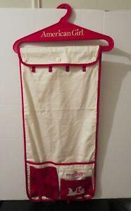American Girl Organizer Red White Hanging Wardrobe Clothes Doll Closet