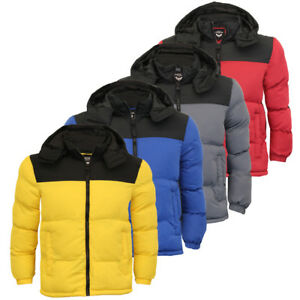 f726ecd5f Details about Brave Soul Mens Hooded Quilted Padded Winter Puffer Bubble  Jacket Coat