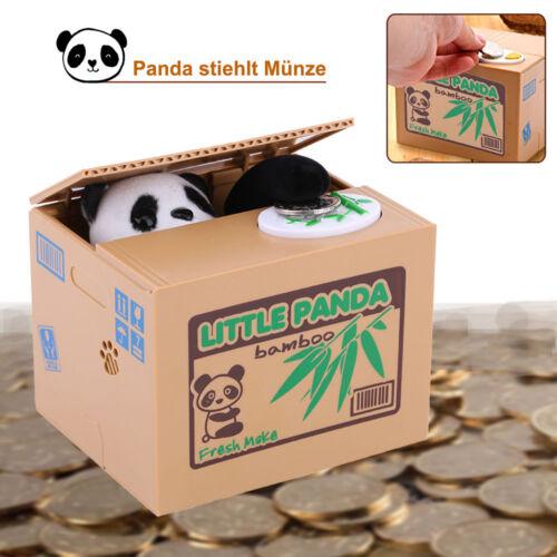 Elektronische Spardose Pandabär Stiehlt Münze Box Sparschwein Panda für Kinder