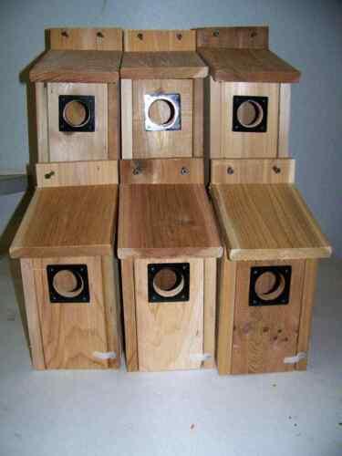 6 Bluebird houses metal predator guard fully assembled..handmade  free S//H