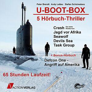 U-boot-box XXL 5 Hörbuch-thriller 65 Stunden Laufzeit