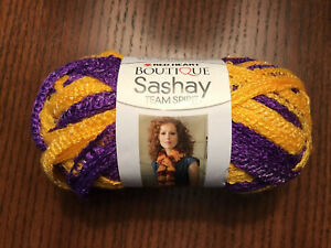 RED HEART Boutique Sashay Team Spirit Yarn Purple//Gold