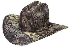 Image is loading Mossy-Oak-Camo-COWBOY-HAT-Western-Camouflage-Hunting- 9a9b95350cf