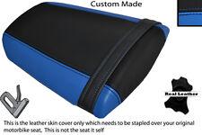 LIGHT BLUE & BLACK CUSTOM FITS HONDA CBR 600 RR 07-12 REAR LEATHER SEAT COVER