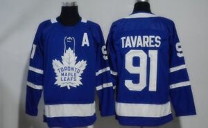 Toronto Maple Leafs  91 Tavares Men s Blue White Jerseys 2018-19 New ... f95e711762d01