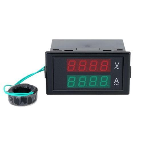 Digital LED AC 80-300V 100A Voltmeter Ammeter Panel Amp Volt Dual Display