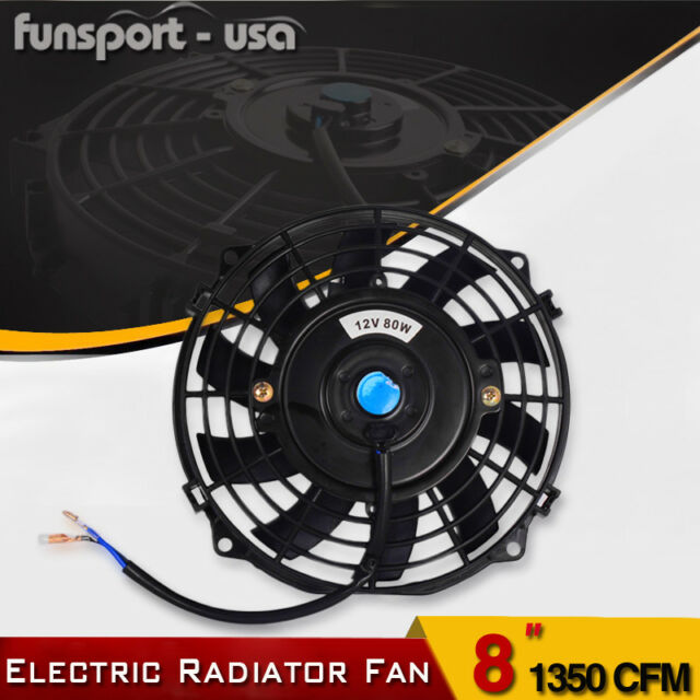 8inch Push Pull Universal Slim Electric Radiator Fans Cooling Engine Bay Kit 80w