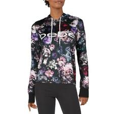 DKNY Sport Womens Black Athleisure Fitness Workout Hoodie Athletic XS BHFO 2784