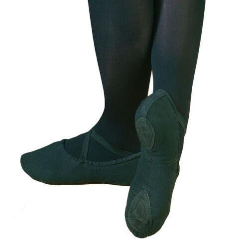 capezio mens split sole canvas ballet shoes black or white