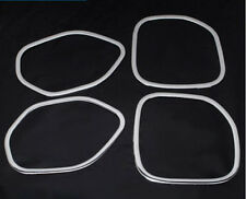 Stainless Door Interior Speaker Cover Trim 4pc for Jeep Grand Cherokee 2011-2015