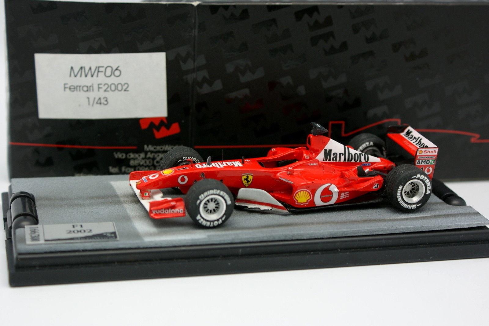 Microworld Factory Built 1 43 - F1 Ferrari F2002 Schumacher 2001