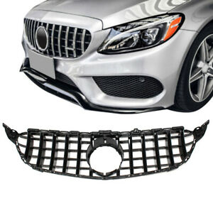 GT R AMG Style Grill Grille Front Bumper for Mercedes Benz W205 C250 C300 C43