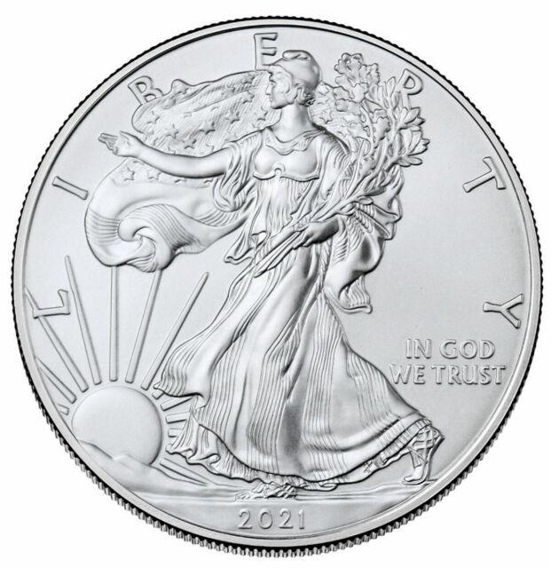 2015 American Silver Eagle $1 1 oz BU Five 5 Coins