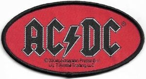 Official-Licensed-Merch-Woven-Sew-on-PATCH-Heavy-Metal-Rock-AC-DC-Oval-Logo