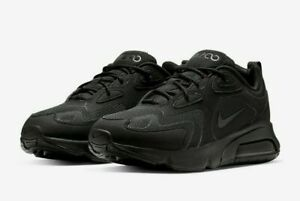 Nike-Air-Max-200-Running-Shoes-Black-Anthracite-AQ2568-003-Men-039-s-NEW