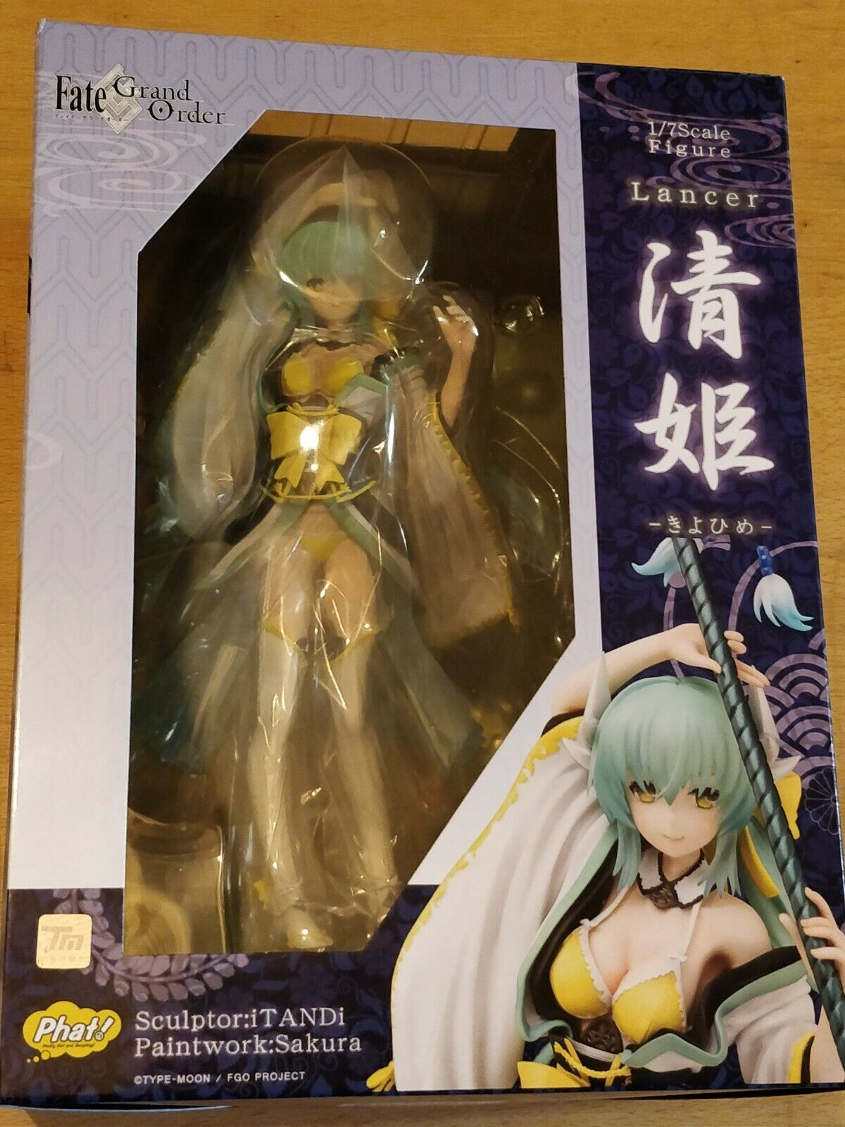 FATE GRAND ORDER LANCER   KIYOHIME 1 7 COMPLETE FIGURE (PHAT) - NEW AND SEALED