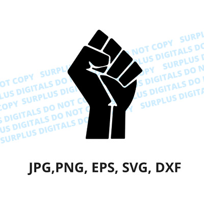 Raised Fist Black - Jpg, eps, svg, dxf - Digital File  eBay
