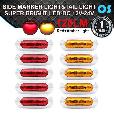 30 Pcs Amber Red White 4 SMD LED Side Marker Truck Jeep Trailer Van RV Indicator