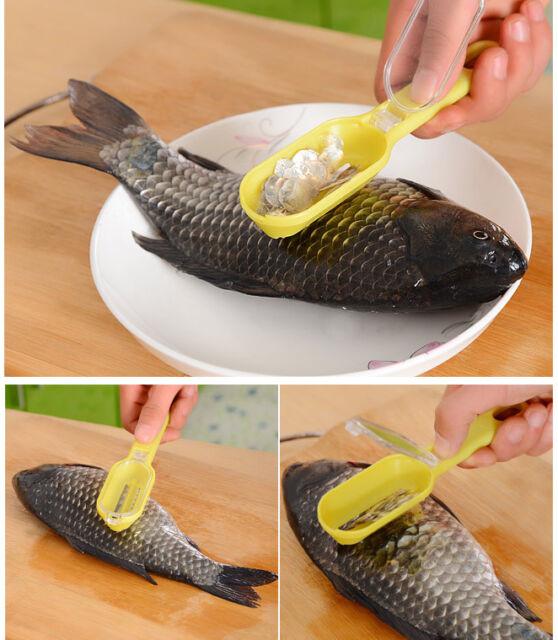 New Fish Scale Scraper Kitchen Fish Scale Remover Mini Cooking Accessories
