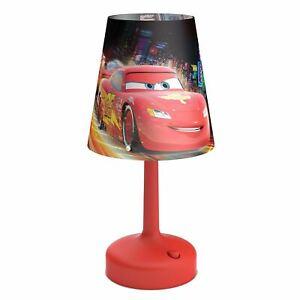 Disney-Cars-Portable-Bureau-Table-Lampe-Rouge-Enfants-Chambre-Eclairage-Neuf