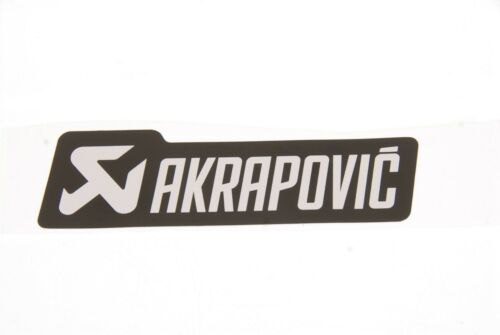 P-HST4ALMONO Akrapovic SilberSchwarz Street Auspuff Aufkleber Hitzefest 40 x 130