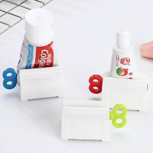 Easy Squeezer Tube Toothpaste Dispenser Rolling Holder Bathroom Sucker SI
