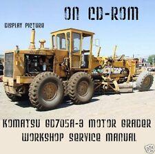 KOMATSU GD705A-3 MOTOR GRADER SHOP SERVICE REPAIR MANUAL GD705A 3 ON CD FAST