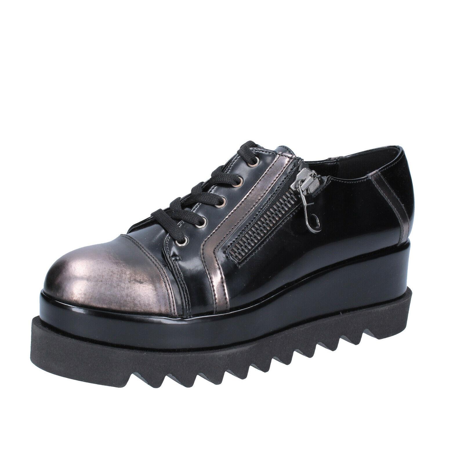 Women's shoes BOTTEGA LOTTI 8 (EU 38) elegant black leather BS980-38