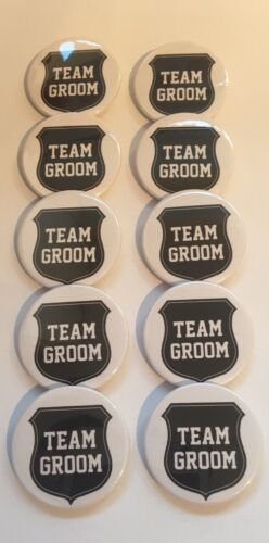 """10 X STAG PARTY NIGHT BUTTON BADGES 1.5""""/ 38mm BEST MAN WEDDING TEAM GROOM"""