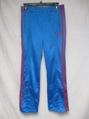 Pantalon ADIDAS rétro vintage bleu rose Trefoil femme 38 sport pant | eBay