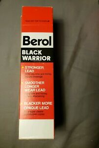 Vtg-12-NEW-Black-Warrior-2-1-2-Writing-Pencils-by-Berol-True-Medium-372-2-1-2