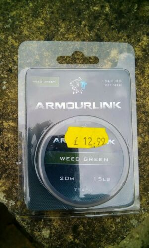 Nash Armourlink Hooklink Braid Weed Green