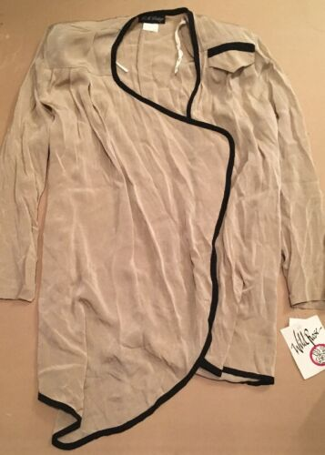 Tan vêtements Flowy Vintage Blazer épaulettes Rose Open Wild La qBaORwO