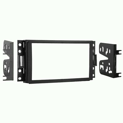 Compatible with Hummer H3 2006-2010 Double DIN Aftermarket Harness Radio Install Dash Kit