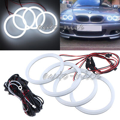 For E46 2D 325ci Coupe//Convertible 04-2006 LED Angel Eye Halo Ring Cotton RGB 4X