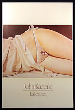 "John Kacere ""La Femme"" Vintage Art Poster 1982 woman in underwear Make Offer"