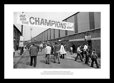 608 The Baseball Ground Main Stand Entrance Photo Memorabilia Derby County